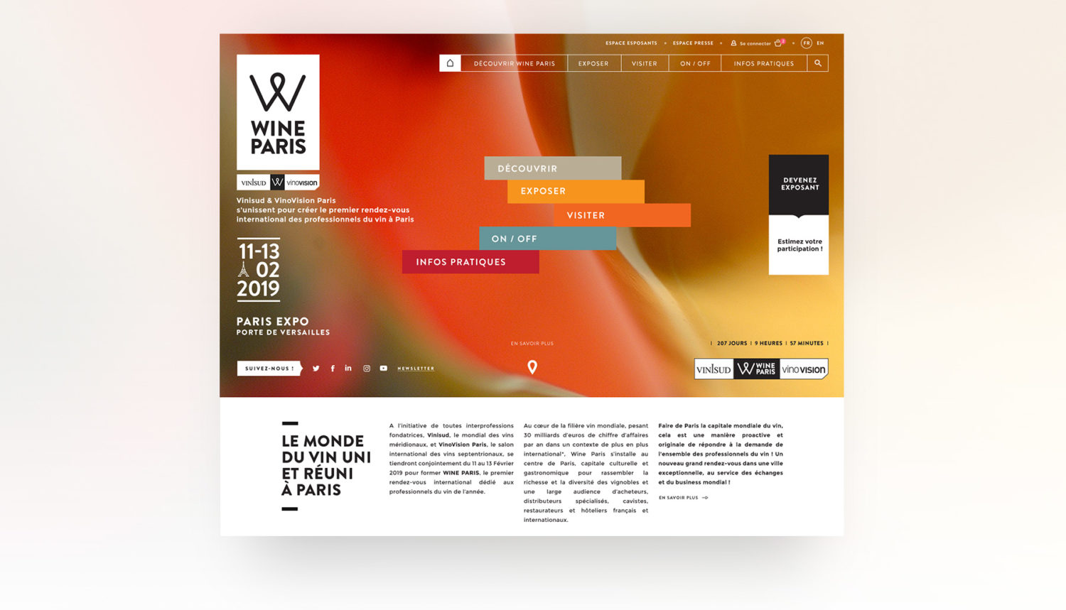 Site web Wine Paris